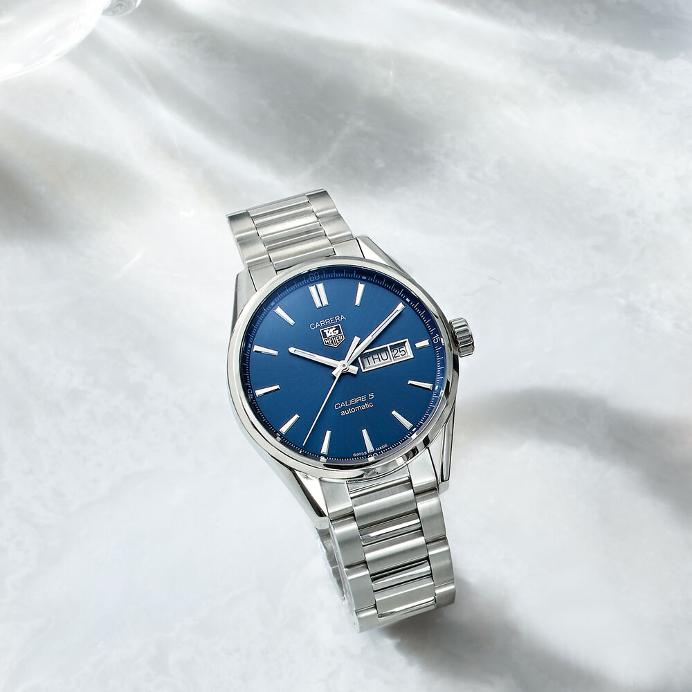79b1d3f55f3 ... default TAG Heuer Carrera Men's Automatic Stainless Steel Watch with Blue  Dial, , default