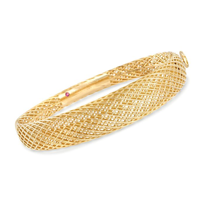 "Roberto Coin Silk 18-Karat Yellow Gold Bangle . 7"", , default"