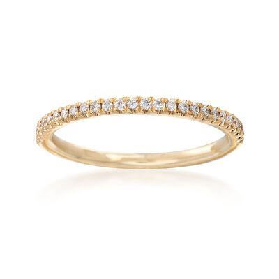Henri Daussi .15 ct. t.w. Diamond Wedding Band in 18kt Yellow Gold, , default