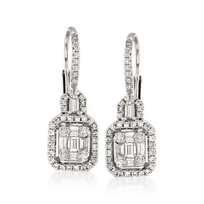 Gregg Ruth .85 ct. t.w. Diamond Earrings in 18kt White Gold, , default