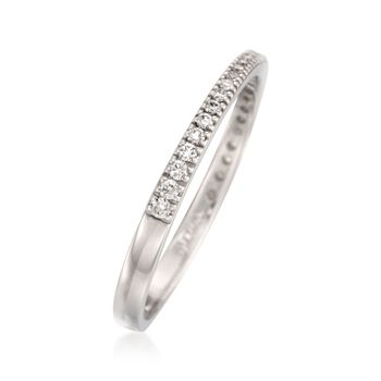 Simon G. Diamond Band in 18-Karat White Gold. Size 7, , default
