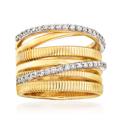 .50 ct. t.w. Diamond Highway Ring in 14kt Yellow Gold, , default