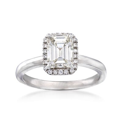 1.32 ct. t.w. Diamond Halo Ring in 18kt White Gold, , default