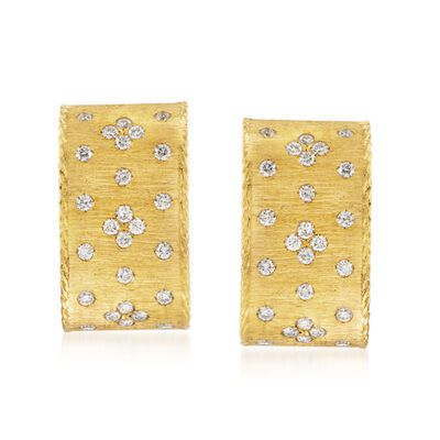 "Roberto Coin ""Princess"" .70 ct. t.w. Diamond Earrings in 18kt Yellow Gold, , default"