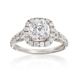 Henri Daussi 3.15 ct. t.w. Certified Diamond Engagement Ring in 18kt White Gold, , default