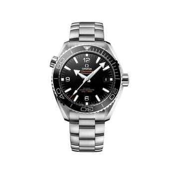 Omega Seamaster Planet Ocean Master Chronometer 43.5mm Men's Automatic Stainless Steel Watch - Black Dial, , default