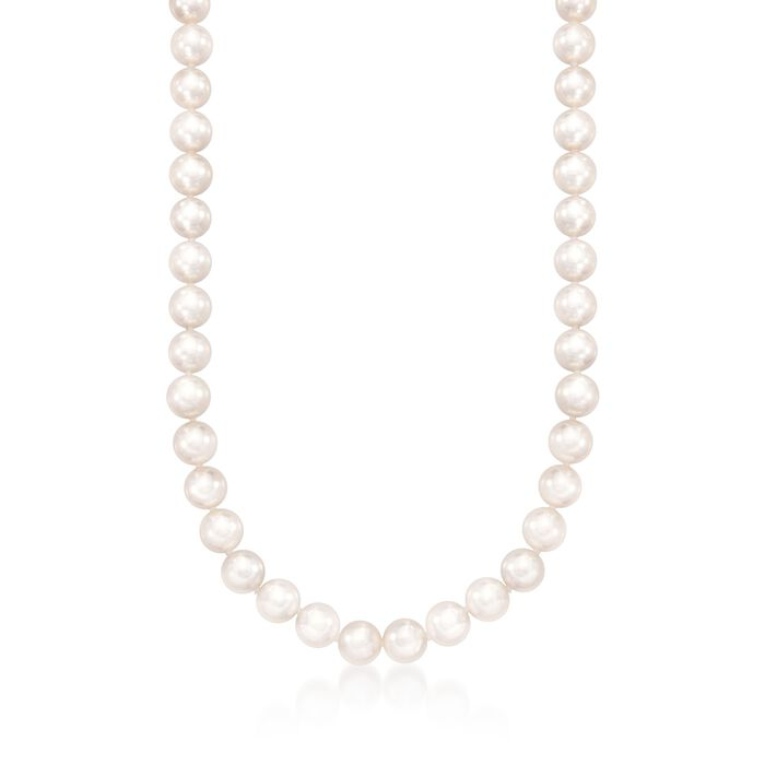 "Mikimoto 7-7.5mm Grade 'A' Akoya Pearl Necklace in 18kt White Gold. 16"", , default"