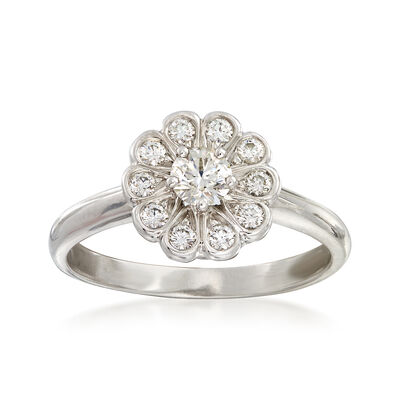 C. 1990 Vintage Tiffany Jewelry .45 ct. t.w. Diamond Cluster Ring in Platinum , , default