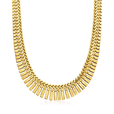 C. 1930 Vintage 18kt Yellow Gold Cleopatra Necklace