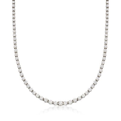 C. 1990 Vintage Tiffany Jewelry 12.00 ct. t.w. Diamond Tennis Necklace in Platinum, , default