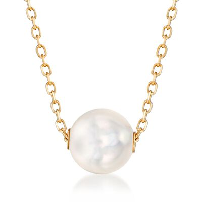 Mikimoto 8mm A+ Akoya Pearl Necklace in 18kt Yellow Gold