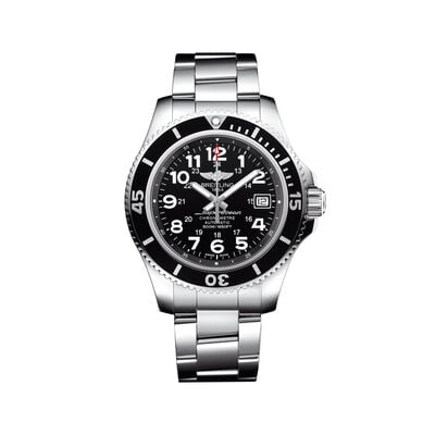 Breitling Superocean II Men's 42mm Stainless Steel Watch - Black Dial, , default