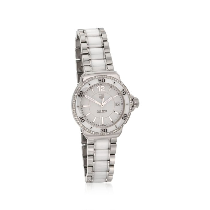 TAG Heuer Formula 1 Women's .35 ct. t.w. Diamond Watch in Stainless Steel and White Ceramic