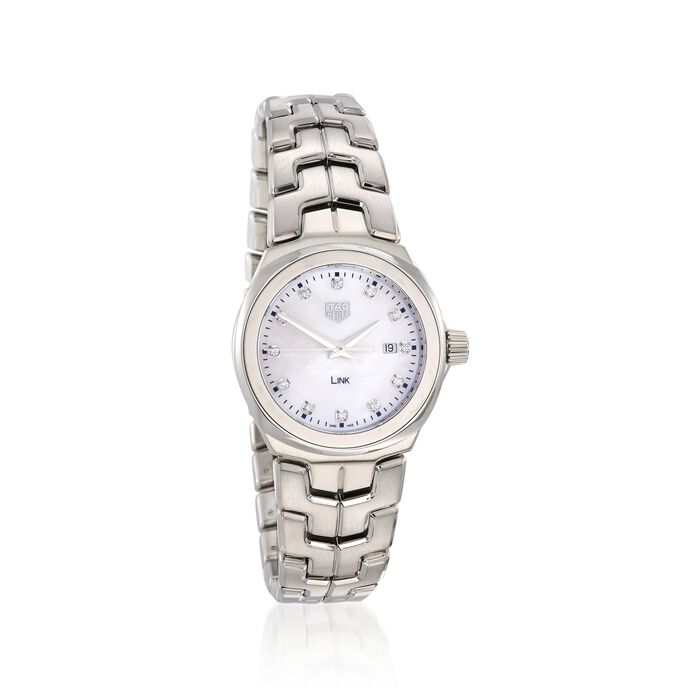 TAG Heuer Link 32mm Women's .12 Carat Total Weight Diamond Watch in Stainless Steel, , default