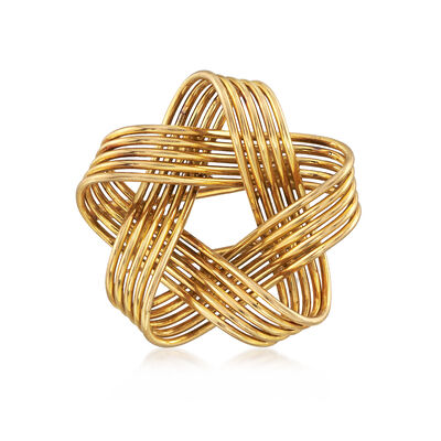 C. 1980 Vintage Hermes 18kt Yellow Gold Knot Pin, , default