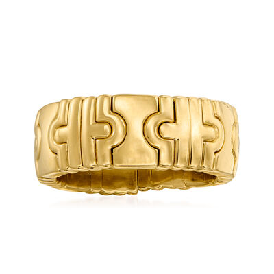 "C. 1990 Vintage Bulgari ""Parentesi"" 18kt Yellow Gold Ring"