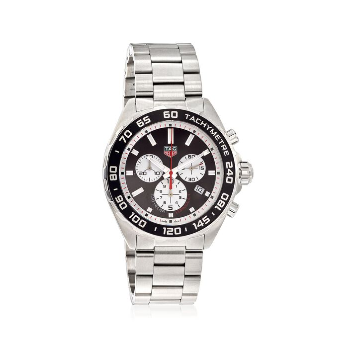 TAG Heuer Formula 1 43mm Men's Stainless Steel Chronograph Watch - Black Dial, , default