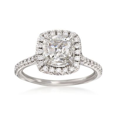 Henri Daussi 1.67 ct. t.w. Certified Diamond Engagement Ring in 18kt White Gold