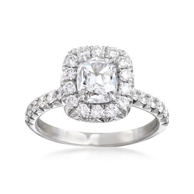 Henri Daussi 1.53 ct. t.w. Diamond Engagement Ring in 18kt White Gold