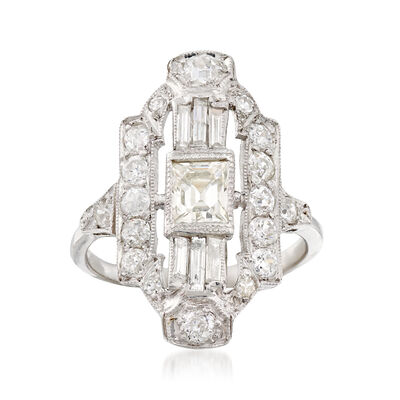 C. 1960 Vintage 1.87 ct. t.w. Diamond Dinner Ring in Platinum, , default