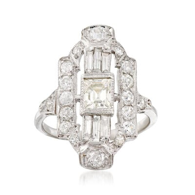 C. 1960 Vintage 1.87 ct. t.w. Diamond Dinner Ring in Platinum