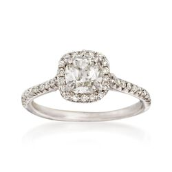 Henri Daussi 1.27 ct. t.w. Certified Diamond Engagement Ring in 18kt White Gold, , default