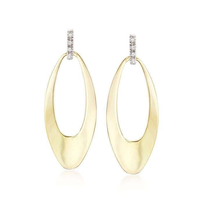 Roberto Coin Chic & Shine Diamond-Accented Drops in 18-Karat Two-Tone Gold, , default