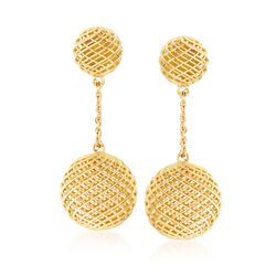 "Roberto Coin ""Silk"" 18kt Yellow Gold Drop Earrings, , default"