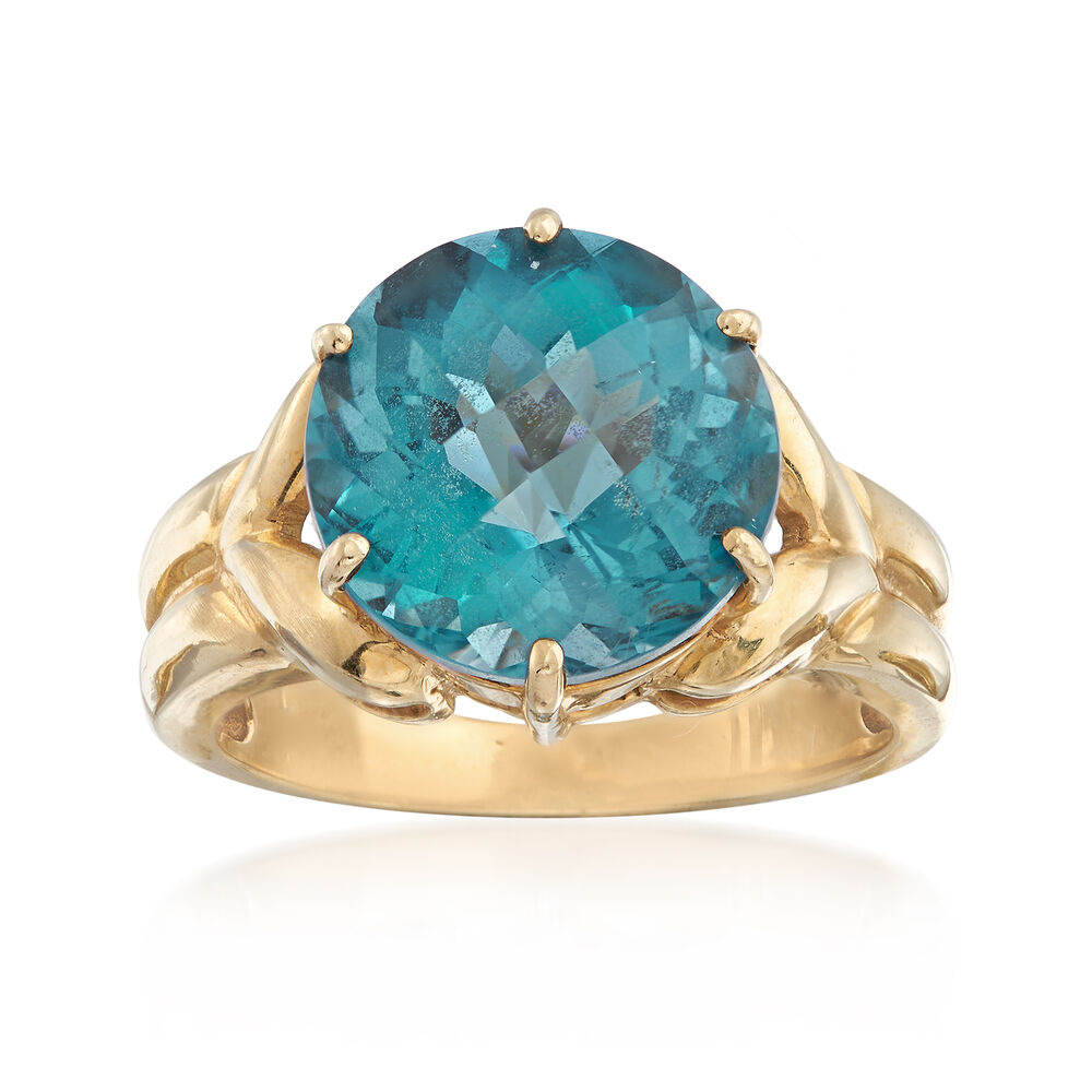 Synthetic Topaz Ring 10kt Gold
