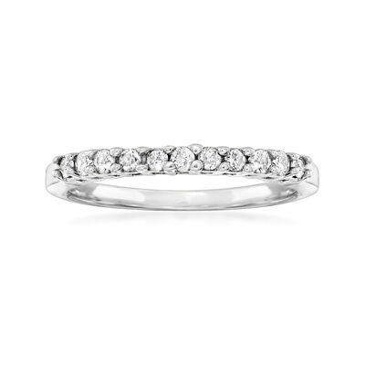 C. 1980 Vintage .25 ct. t.w. Diamond Ring in 14kt White Gold
