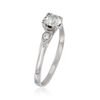 C. 1990 Vintage 1.01 ct. t.w. Diamond Ring in 14kt White Gold. Size 7, , default