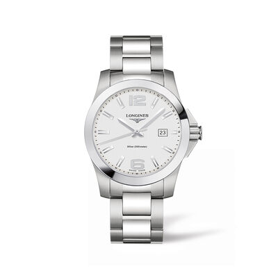 Longines Conquest Men's 41mm Stainless Steel Watch