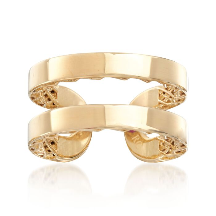 Roberto Coin Symphony Golden Gate 18-Karat Yellow Gold Double Cuff Ring. Size 7, , default