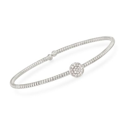 Simon G. .15 ct. t.w. Diamond Circle Bracelet in 18kt White Gold