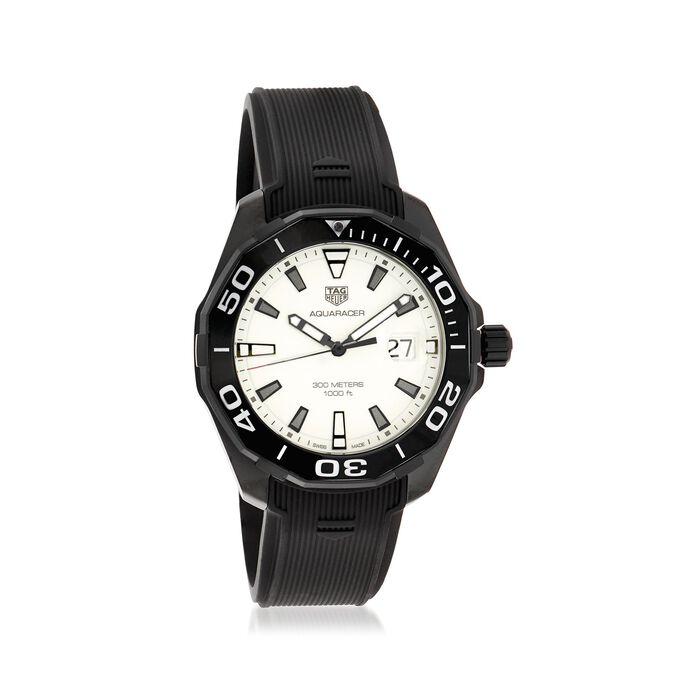 TAG Heuer Aquaracer Nightdiver Men's 43mm Black Titanium Watch with Rubber