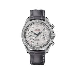 Omega Speedmaster Dark Side of the Moon Men's 44.25mm Gray Ceramic Watch With Gray Leather Strap, , default