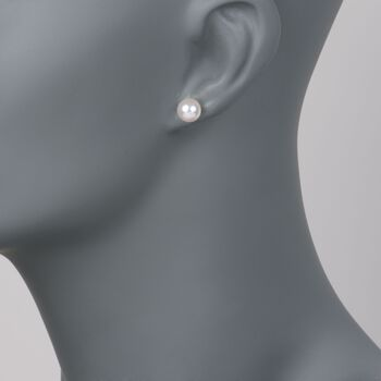 Mikimoto 7.5-8mm Akoya Pearl Studs in 18-Karat White Gold, , default