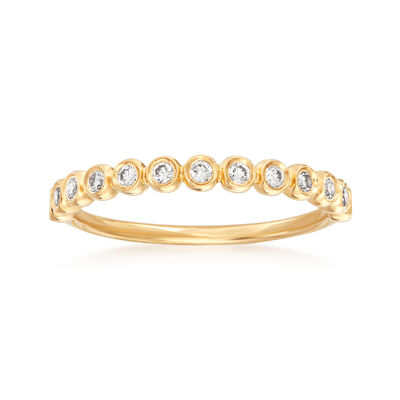 Henri Daussi .21 ct. t.w. Diamond Wedding Ring in 14kt Yellow Gold