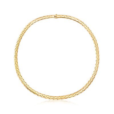 C. 1980 Vintage Cartier 18kt Yellow Gold Round Woven-Link Necklace, , default
