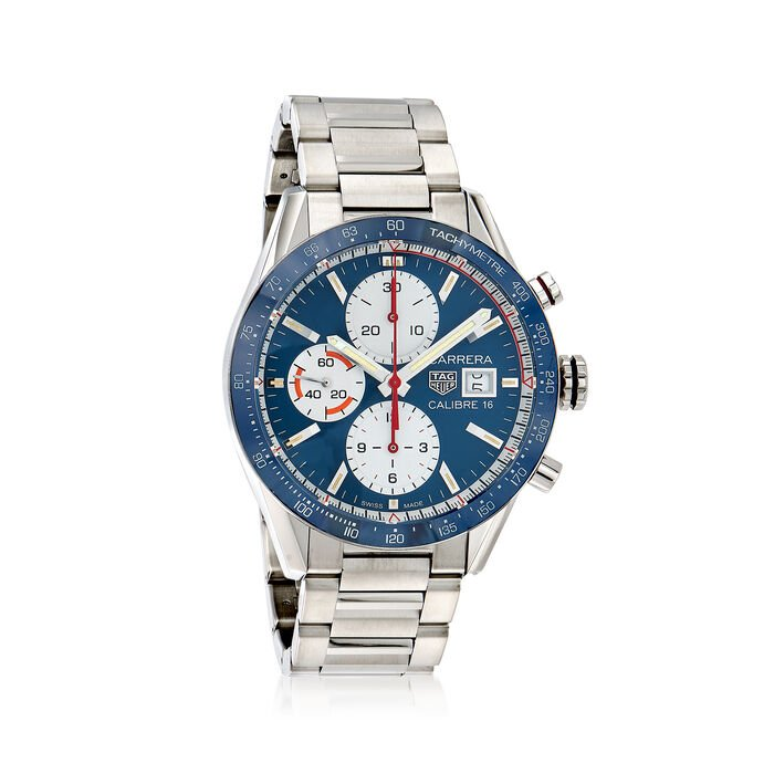 TAG Heuer Carrera Men's 41mm Auto Chronograph Stainless Steel Watch - Blue Dial