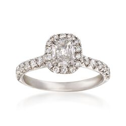 Henri Daussi 1.34 ct. t.w. Diamond Engagment Ring in 18kt White Gold, , default
