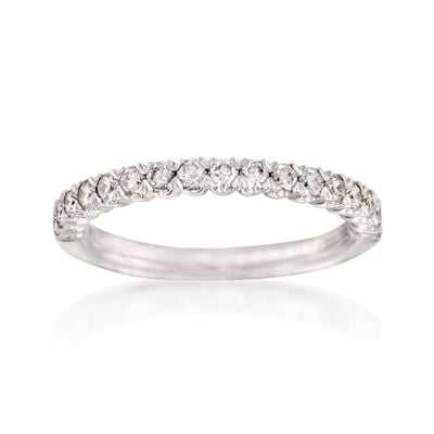 Henri Daussi .45 ct. t.w. Diamond Wedding Band in 14kt White Gold