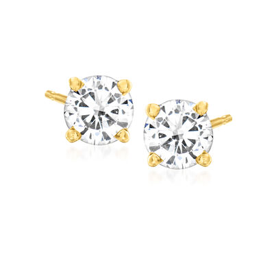 C. 2000 Vintage .70 ct. t.w. Diamond Stud Earrings in 14kt Yellow Gold