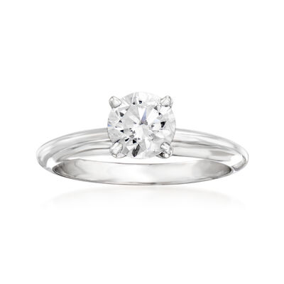 C. 2000 Vintage .96 Carat Diamond Solitaire Ring in 14kt White Gold
