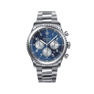 Breitling Navitimer 8 B01 Chronograph Men's 43mm Stainless Steel Watch - Blue Dial, , default