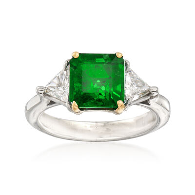 2.30 Carat Emerald and .70 ct. t.w. Diamond Ring in Platinum, , default