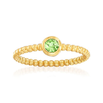 "Phillip Gavriel ""Popcorn"" .20 Carat Peridot Beaded Ring in 14kt Yellow Gold, , default"