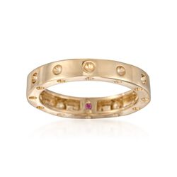"Roberto Coin ""Pois-Moi"" 18kt Yellow Gold Dotted Ring, , default"
