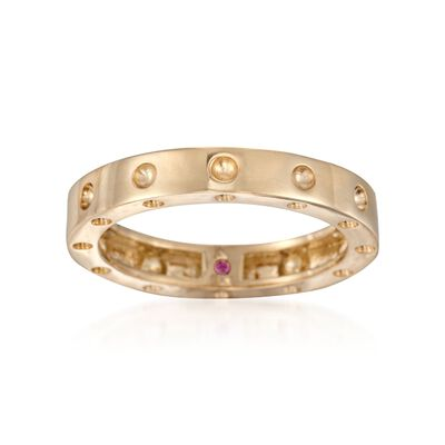 """Roberto Coin """"Pois-Moi"""" 18kt Yellow Gold Dotted Ring, , default"""