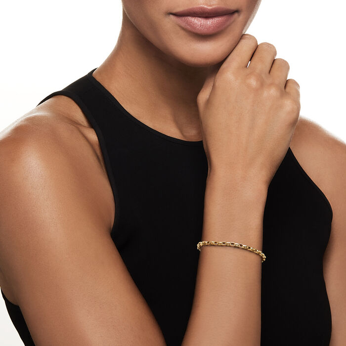 Roberto Coin 18kt Yellow Gold Gauge Cable-Link Bracelet